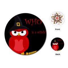 Who is a witch? - red Playing Cards (Round)