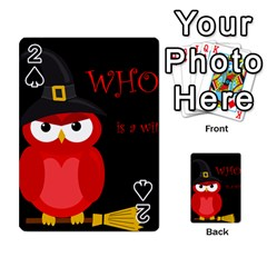 Who is a witch? - red Playing Cards 54 Designs