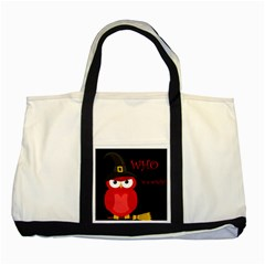 Who is a witch? - red Two Tone Tote Bag