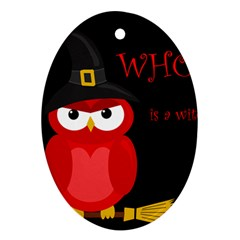 Who is a witch? - red Oval Ornament (Two Sides)