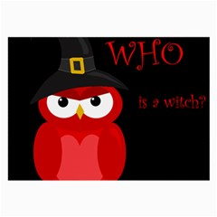 Who is a witch? - red Large Glasses Cloth