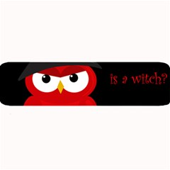 Who is a witch? - red Large Bar Mats