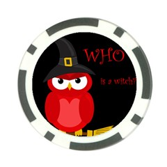 Who is a witch? - red Poker Chip Card Guards