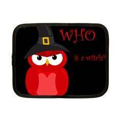 Who is a witch? - red Netbook Case (Small)