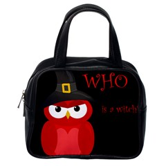 Who is a witch? - red Classic Handbags (One Side)