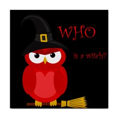 Who is a witch? - red Face Towel