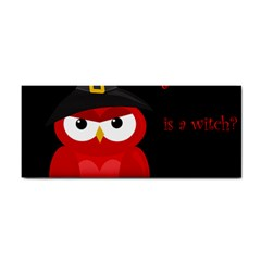 Who is a witch? - red Hand Towel