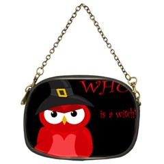 Who is a witch? - red Chain Purses (Two Sides)