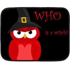 Who is a witch? - red Double Sided Fleece Blanket (Mini)