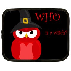 Who is a witch? - red Netbook Case (XXL)
