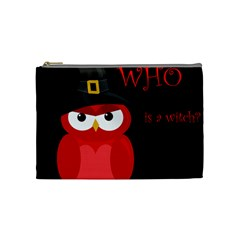Who is a witch? - red Cosmetic Bag (Medium)