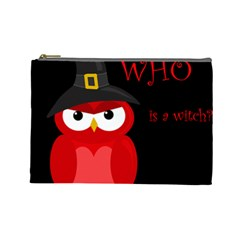 Who is a witch? - red Cosmetic Bag (Large)