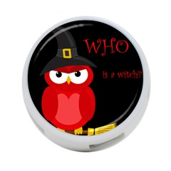 Who is a witch? - red 4-Port USB Hub (Two Sides)