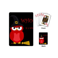 Who is a witch? - red Playing Cards (Mini)