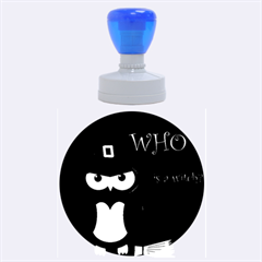 Who Is A Witch?   Red Rubber Round Stamps (large)