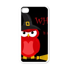 Who is a witch? - red Apple iPhone 4 Case (White)