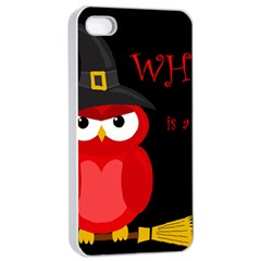 Who is a witch? - red Apple iPhone 4/4s Seamless Case (White)