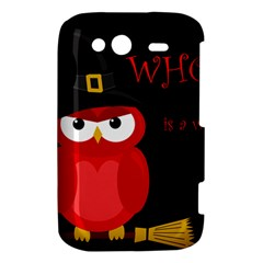 Who is a witch? - red HTC Wildfire S A510e Hardshell Case