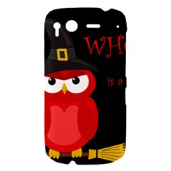 Who is a witch? - red HTC Desire S Hardshell Case