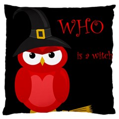 Who is a witch? - red Large Cushion Case (Two Sides)