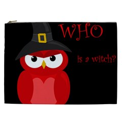 Who is a witch? - red Cosmetic Bag (XXL)