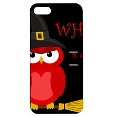 Who is a witch? - red Apple iPhone 5 Hardshell Case with Stand