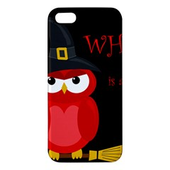 Who is a witch? - red Apple iPhone 5 Premium Hardshell Case