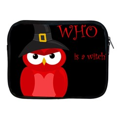 Who is a witch? - red Apple iPad 2/3/4 Zipper Cases