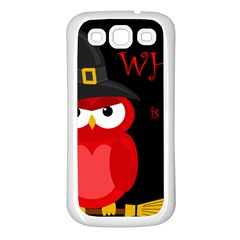 Who is a witch? - red Samsung Galaxy S3 Back Case (White)