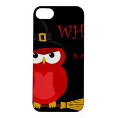 Who is a witch? - red Apple iPhone 5S/ SE Hardshell Case