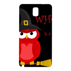 Who is a witch? - red Samsung Galaxy Note 3 N9005 Hardshell Back Case