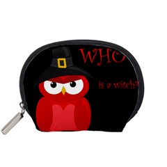 Who is a witch? - red Accessory Pouches (Small)