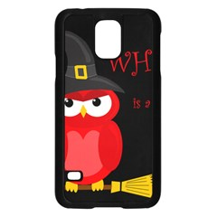 Who is a witch? - red Samsung Galaxy S5 Case (Black)