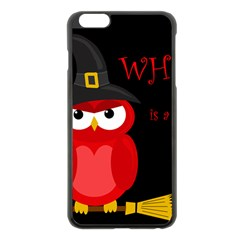 Who is a witch? - red Apple iPhone 6 Plus/6S Plus Black Enamel Case