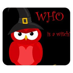 Who is a witch? - red Double Sided Flano Blanket (Small)