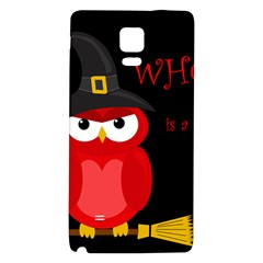 Who is a witch? - red Galaxy Note 4 Back Case