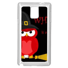 Who is a witch? - red Samsung Galaxy Note 4 Case (White)