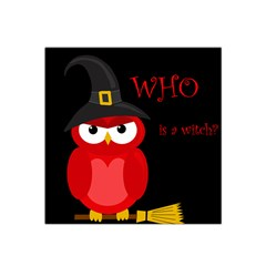 Who is a witch? - red Satin Bandana Scarf
