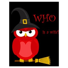 Who is a witch? - red Drawstring Bag (Large)