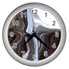 Metallic And Chrome Wall Clocks (silver)