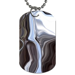 Metallic and Chrome Dog Tag (Two Sides)