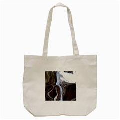Metallic and Chrome Tote Bag (Cream)