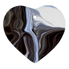 Metallic and Chrome Heart Ornament (2 Sides)