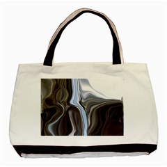 Metallic and Chrome Basic Tote Bag (Two Sides)