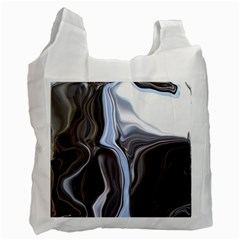 Metallic And Chrome Recycle Bag (one Side)