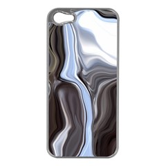 Metallic and Chrome Apple iPhone 5 Case (Silver)