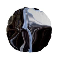 Metallic and Chrome Standard 15  Premium Flano Round Cushions