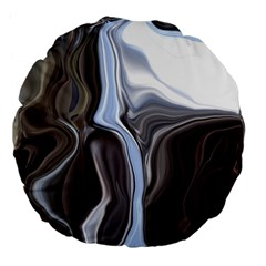Metallic and Chrome Large 18  Premium Flano Round Cushions