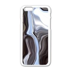 Metallic and Chrome Apple iPhone 6/6S White Enamel Case