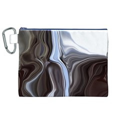 Metallic And Chrome Canvas Cosmetic Bag (xl)